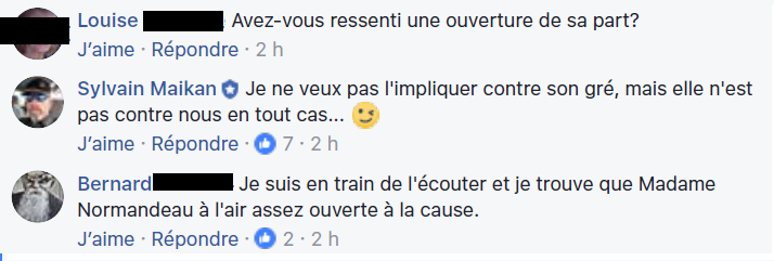 zz commentaires pro normandeau