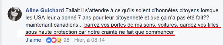 z4b Martineau déforme les infos réplique panique