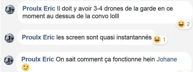 z5 drones de la Garde qui font des screenshots