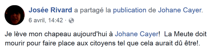 z7c Josée Rivard La Meute doit mourir