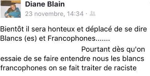 diane blain blancs francophones 2016
