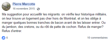 z3c faire manger du bacon aux migrants